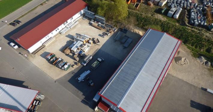 Luftbild des Betriebes Firma Banderitsch