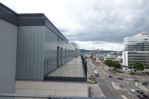 Milaneo Stuttgart Fassade Balkon