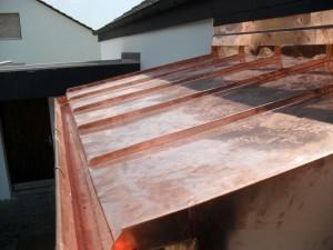 Kupferdach mit Stehfalz