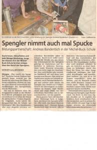 Spengler nimmt auch mal Spucke