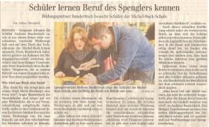 Zeitungsartikel Bildungspartner Banderitsch
