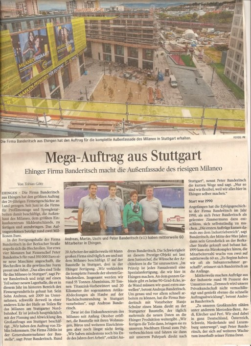 Mega-Auftrag aus Stuttgart Milaneo