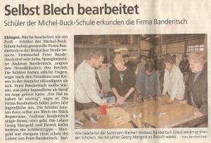 Zeitungsartikel von Michel-Buck-Schule
