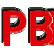 Kleines rotes PB Logo